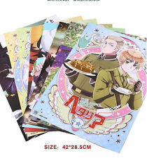 8pcs Anime APH Hetalia Axis Powers Home Decor Poster Wall Scroll Gift