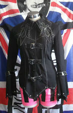 Visual kei Black jacket Punk Rock  Goth Cross Angel Secret M