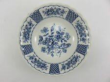 "Myott Melody Fine Ironstone China 6.25"" Blue Soup Salad Bowl Made In England"