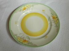 """VINTAGE TAMS WARE SUNBURY ENGLAND 2383 YELLOW GREEN FLORAL SIDE PLATE 6¾"""" 17cm"""