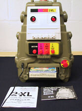 VINTAGE 1978 TYPE 2  MEGO TOY 2-XL TALKING ROBOT WITH 8 TRACK TAPE TESTED WORKS