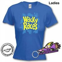 Hanna Barbera Official Wacky Races Ladies Skinny Fit T-Shirt Var Sizes & Keyring