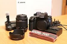 Canon EOS 70D 20.2MP Digital SLR with EF-S IS STM 18-55mm AND Battery Grip