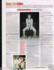 Coupure de Presse Clipping 2002 (1 page) Clémentine Célarié