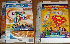 JUSTICE LEAGUE OF AMERICA JLA CEREAL BOX GENERAL MILLS CINNAMON TOAST CRUNCH
