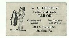 Old Advertising Blotter AC Bilotty Tailor Dry Cleaning Dyeing Steelton PA