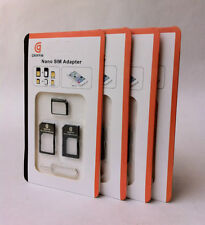 4 in 1 Nano SIM Card Converter Adapter Kit to Micro/Standard with Ejector Pin