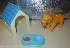 FISHER PRICE LOVING FAMILY 1994 DREAM DOLL DOG HOUSE DISH DOLLHOUSE SET LOT