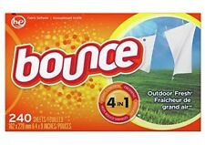 Bounce Outdoor Fresh Dryer Sheets and Fabric Softener, 240 Count New