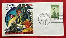 Honoring the Armed Forces US Marines Iwo Jima SC #930 3c Stamp on Fancy Cover