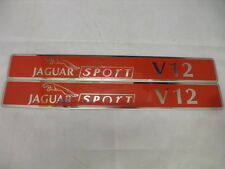 JAGUAR XJRS V12 6 Litre Jaguar Sport OE PAIR Engine Badges NEW SPE1032