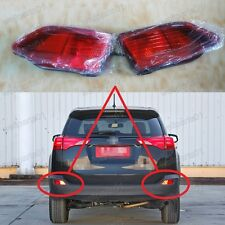 1Pair Red Rear Bumper Fog Lamp Lights For Toyota RAV4 2013-2015