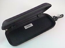 New Black Semi Hard Safety Eyeglasses XL Case Nylon Zipper Snap Hook Belt Loop