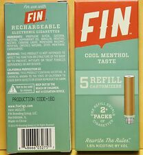 6~Boxes~Wholesale~FIN~COOL MENTHOL~Smoke~e~Cartomizer~5 Refill~Cartomizers~3275
