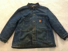 Men's Big Ben Denim Field Barn Work Coat Jacket Lined Corduroy Collar (48) nc5
