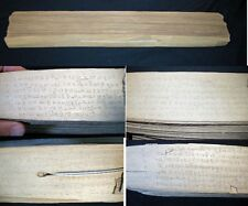 CIRCA 1850 PALI LEAF BOOK APPROX. 130 LEAVES 20 INCH LENGTH POSSIBLY THAM STYLE