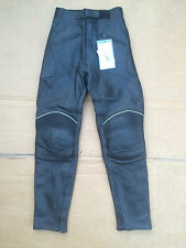 "PROTO Mens Leather Motorbike / Motorcycle Trousers UK 26"" Waist (#40)"