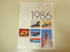 Monogram Model Kit Catalog 1986 Illustrated Planes Astronauts Series
