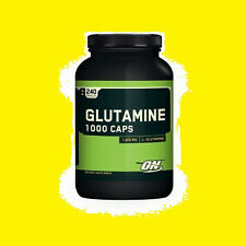 Optimum Nutrition Glutamine 1000 mg - 240 Caps Recovery Worldwide Shipping