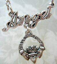 Buffy the Vampire Slayer Angel Angelus Claddagh Ring Inspired Necklace Pendant