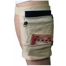 Travel Gear Undercover Hidden Pockets Leg Wallet Zip Safe Money Security Wallet