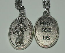 """St Leonard of Noblac Holy Medal & 24"""" Chain Patron - Childbirth Prisoners Horses"""