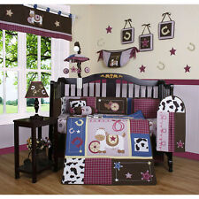 Geenny Western Cowgirl Horse 13-piece Crib Bedding Set