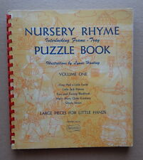 Vintage 1952 NURSERY RHYME PUZZLE Book MARY HAD A LITTLE LAMB-Simple Simon ++