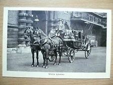 Vintage & Original Postcard- STATE LANDAU,THE ROYAL MEWS, BUCKINGHAM PALACE