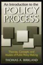 An Introduction to the Policy Process : Theories, Concepts and Models of...