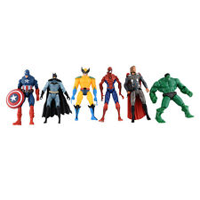 6pcs Marvel The Avengers Super Hero Hulk Spiderman Figure Kids Children Toy