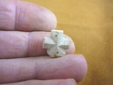 "(CR593-74) 5/8"" SMALL Fairy Stone CHRISTIAN CROSS Staurolite Crystal MATRIX"