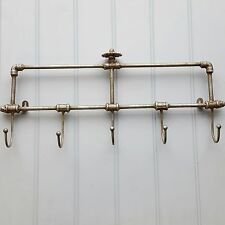 Vintage Industrial Warehouse Style Wall Coat Hooks Rack Towel Rail Antiquue