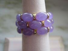GOLD PLATED STERLING SILVER & LAVENDER JADE RING