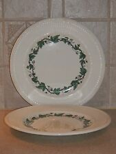 WEDGWOOD CHINA STRATFORD PATTERN EDME SHAPE PAIR SALAD PLATES 8 1/8""
