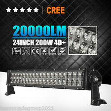 """4D 24INCH CREE 200W LED LIGHT BAR SPOT FLOOD COMBO WORK OFFROAD 4WD LAMP SUV 22"""""""