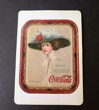 """Vtg """"The Coca Cola Girl"""" Magnetic Card by Hamilton King from 1910 Serving Tray"""