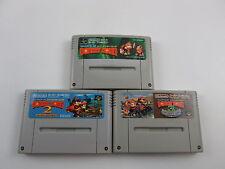 Super Famicom SUPER DONKEY KONG COUNTRY 1 2 3 Set  Japna Ver NINTENDO SFC SNES