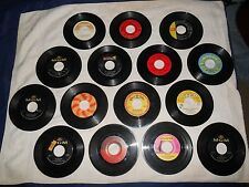LOT OF 15 ASSORTED CLASSIC 1960'S ROCK, POP 45 RPM RECORDS  #2 PLEASE LOOK!