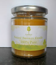 Handmade 100% Natural Beeswax Candle, Anti-Hayfever / Allergy - 190ml Glass Jar