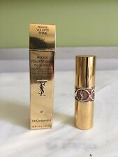 NIB YSL Rouge Volupte Oil In Stick Lipstick - 47 Beige Blouse