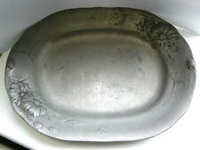 Antique Pewter Jugendstil German Art Nouveau dish Kayserzinn touch marks C1900