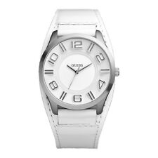 Guess Uomo Orologio Watch Man Uhr Stand W12624G1 Fascia Pelle Bianco Offerta