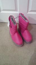 Khombu Kids Waterproof Winter Snow Boots in Fuschia UK Size 3