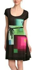 DESIGUAL* T. XS. 36_38 APROX. DRESS ROBE VESTIDO VEST_KAREN NEGRO - NEW.