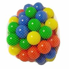50 Play Balls Assorted Colour Fun Kids Ponds Pits Baby Swim Pool Soft Plastic