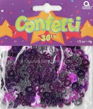 4 PACK 30TH BIRTHDAY CONFETTI /  TABLE SPRINKLES PINK COLOUR TABLE DECORATIONS