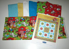 ANIMAL FARM Quilt Kit with 100% Cotton Fabric to sew CHICKENS COWS TRACTOR BARN
