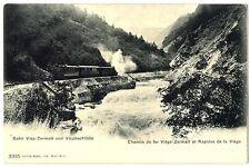 CPA Suisse Lémanique chemin de fer Viège-Zermatt et Rapides de la Viège