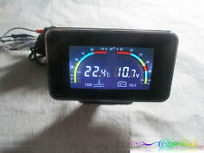 12V/24V/36V 2 in 1 Large Screen LED Digital Gauges Voltmeter/Water Temp